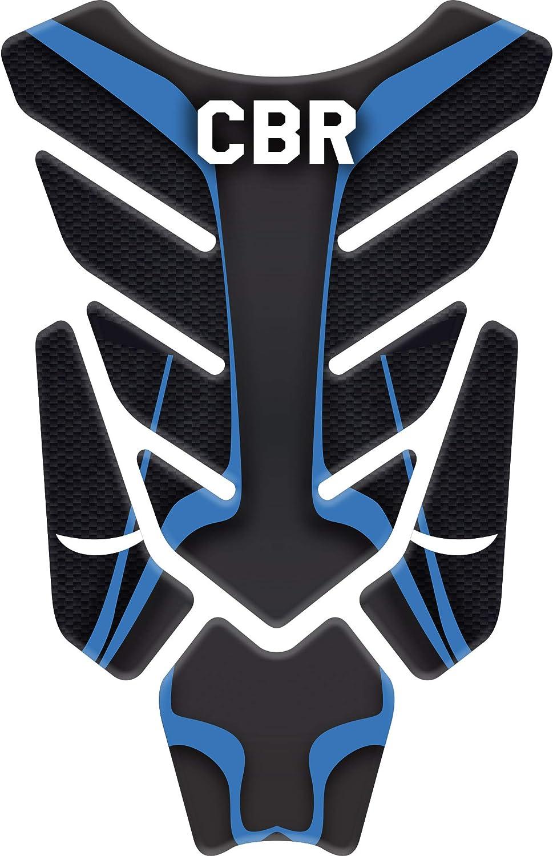 CBR-RR CBR-F 400 500 RESINATO EFFETTO 3D compatibile con Honda Repsol CBR Blue//Black 1000 600 300 PARASERBATOIO ADESIVO 750 CBR-R 125 250 1100 900
