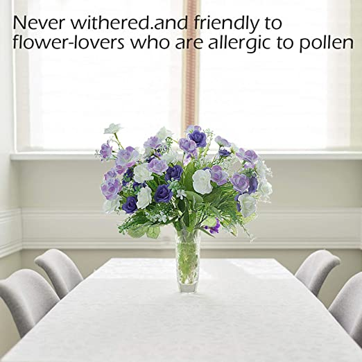 plantas artificiales al aire libre para mesas de mesa y centros de mesa 4 piezas de plantas artificiales de eucalipto vegetal Flores artificiales de uso al aire libre