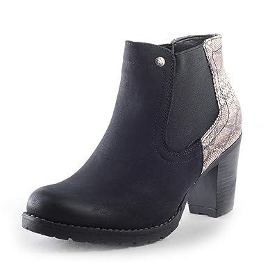 Mit Leicht Stiefel Stiefeletten Chelsea Damen Schuhe Elegante Optik Boots In Gefütterte Schlangenmuster Leder m8OyvN0nw