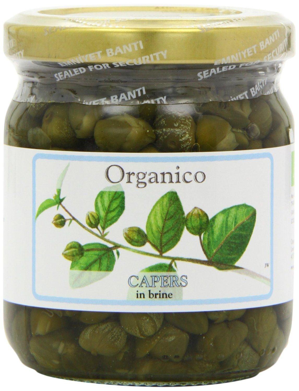 Organico Organic Capers In Brine 250g (Pack of 2)