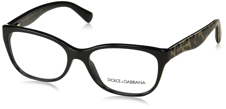 Dolce & Gabbana Matt Silk, Monturas de Gafas para Mujer, Negro ...