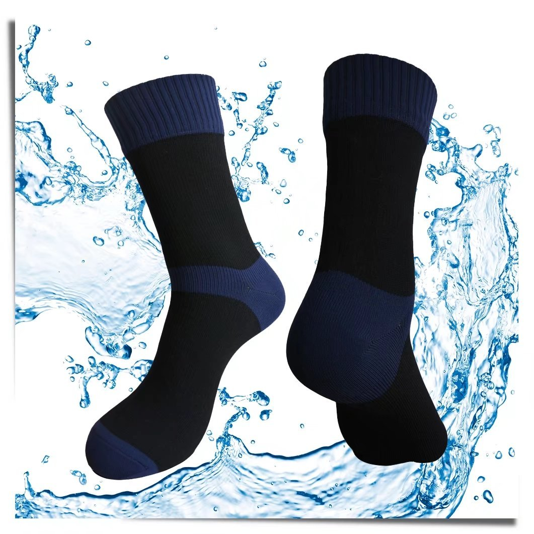 Highcamp Waterproof Socks for Men & Women- Copper Cushion Crew Cycling, Running, Hiking Boots Socks