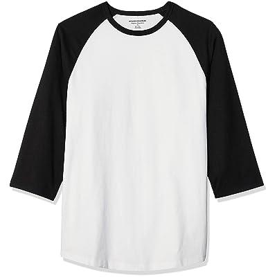 Essentials Men's Regular-fit 3/4 Sleeve Baseball T-Shirt: Clothing