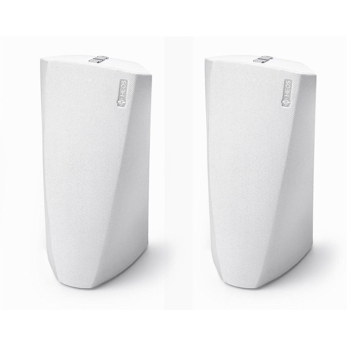 Denon HEOS 3 Dual-Driver Wireless Speaker System - Series 2 Pair (White)