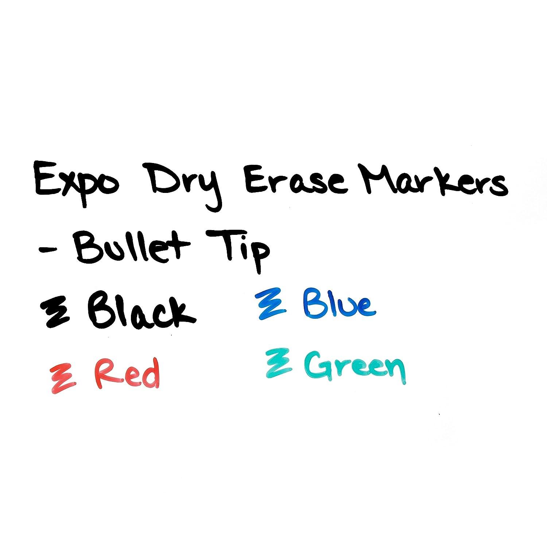 Low Odor Dry Erase Marker, Marker, Marker, Bullet Tip, Rojo, Dozen e562da