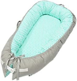 Baby Lounger, Portable Super Soft and Breathable Newborn Infant Bassinet, Newborn Cocoon Snuggle Bed
