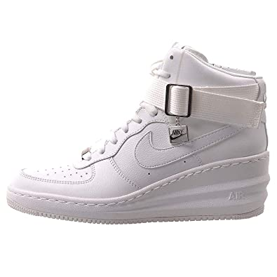new style 1151d e9453 Nike Women s WMNS Lunar Force 1 Sky Hi, White White - Metallic Silver, 4  UK  Amazon.co.uk  Shoes   Bags