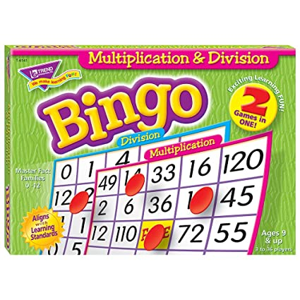 Amazon Com Multiplication Division Bingo Game Office Products