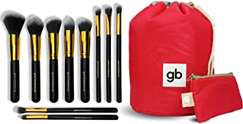 GEOLINE BEAUTY Makeup Brush Set & Cosmetic Travel Bag - Apply Your Makeup Flawlessly For...