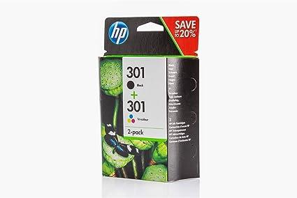 Original de tinta para HP Envy 5530 Series HP 301, n9j72 a, no301 N9j72ae – 2 x Premium Impresora de tinta – Negro, Cian, Magenta, Amarillo – 1 x 190 & 1 x 165 páginas: Amazon.es: Oficina y papelería