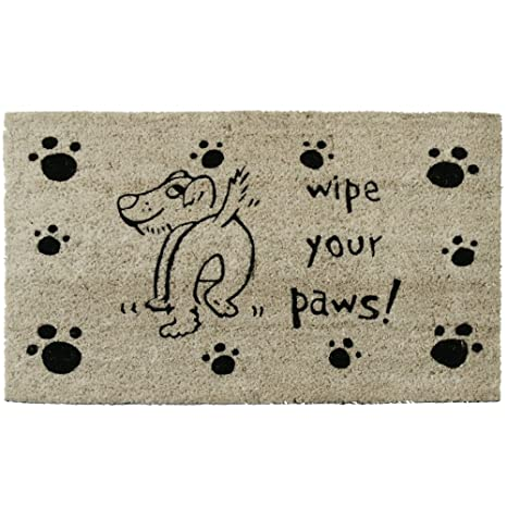 Amazoncom Rubber Cal Wipe Your Paws Dog Doormat 18 By 30 Inch