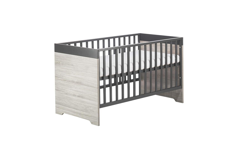 grau Schardt 11 951 23 00 Kinderzimmer Clou mit Kombi-Kinderbett Wickelkommode und 3-t/ürigem Kleiderschrank