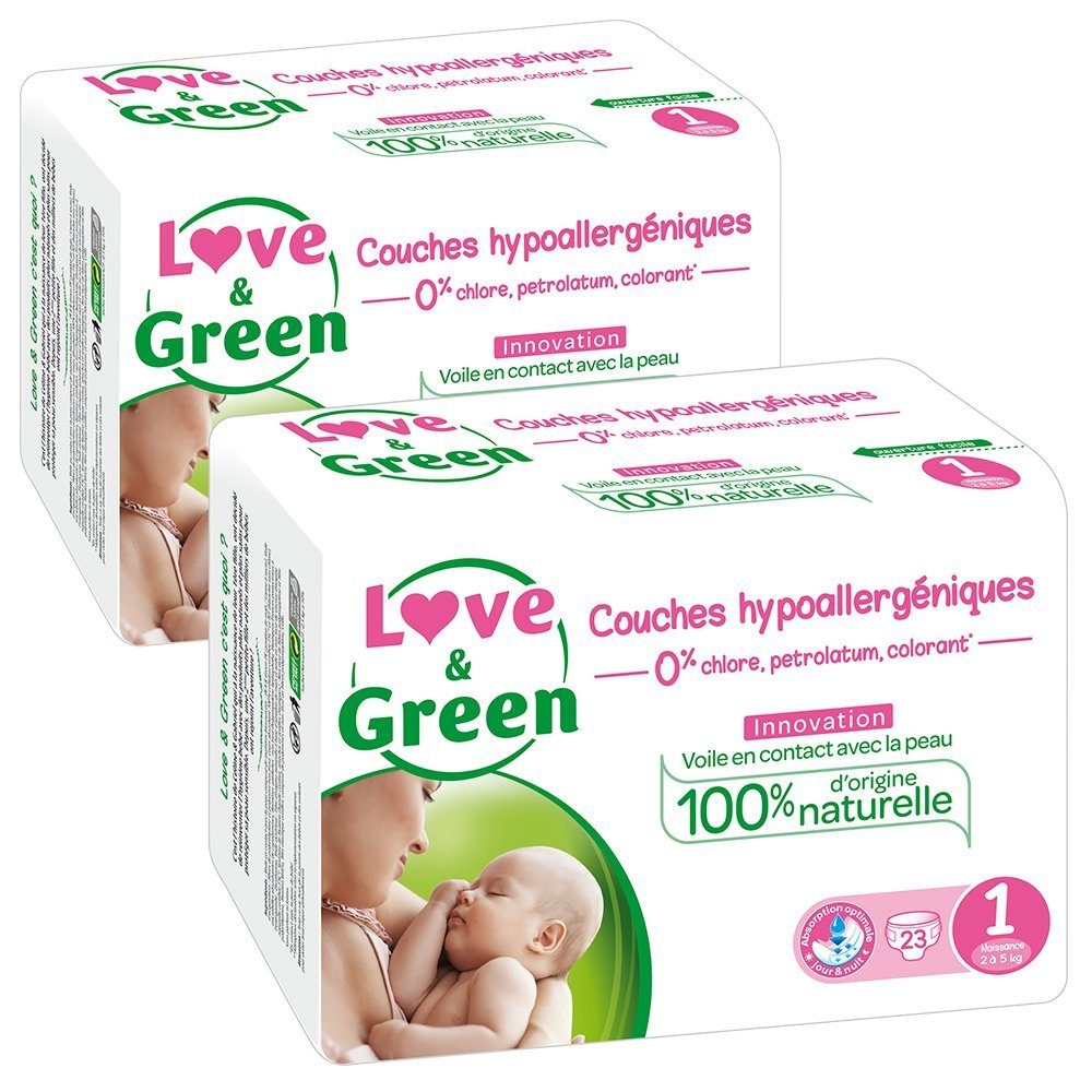 Love Green Couches Bebe Hypoallergeniques 0 Taille 2 3 6 Kg