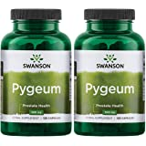 Swanson Pygeum Prostate Support Urinary Tract Health Men Herbal Supplement 100 mg Pygeum Extract (6.5% phytosterols) with 400