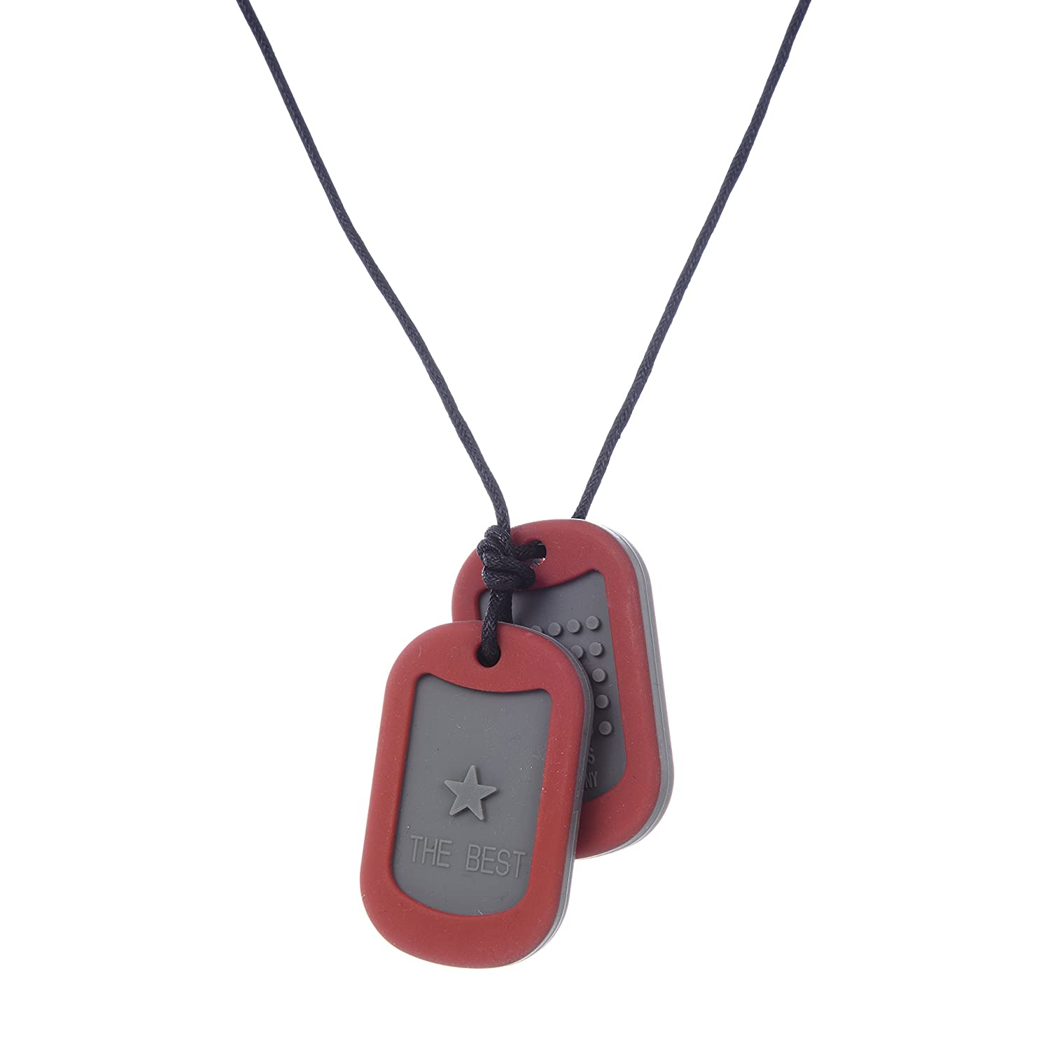 Chewbeads Juniorbeads Dog Tag Necklace, Red CHB-3300-RED