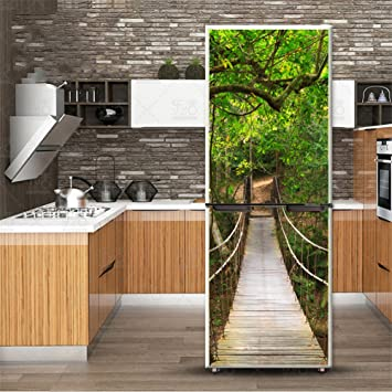 3D Self-Adhesive Door Wall Sticker Fridge Decal Wrap Mural Bathroom Decor A