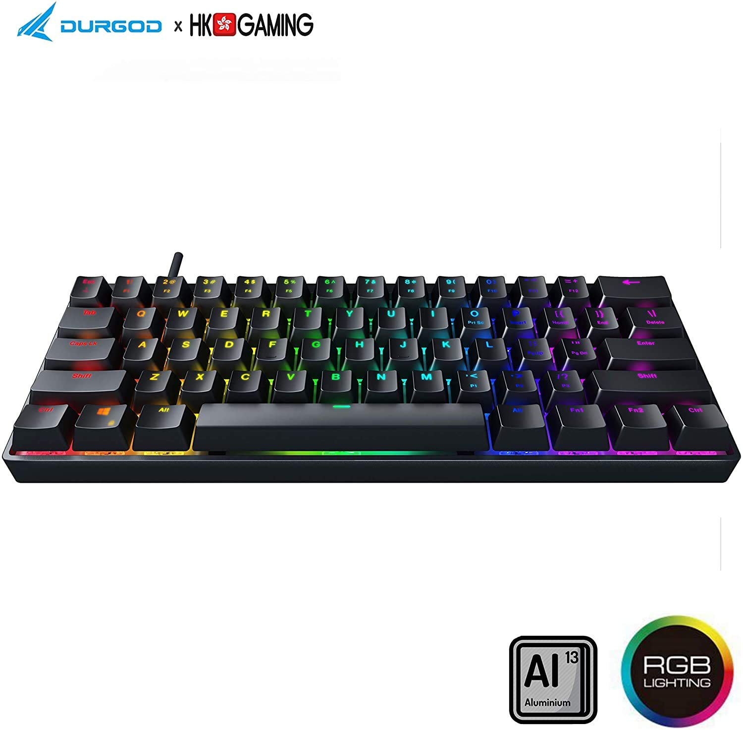 Teclado Mecanico 60% Cherry Brown Switches Durgod HK Ve -MBF