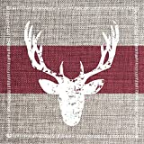 Paperproducts Design Beverage/Cocktail Napkins (Set of 20), Rustic Christmas Deer, Multicolor