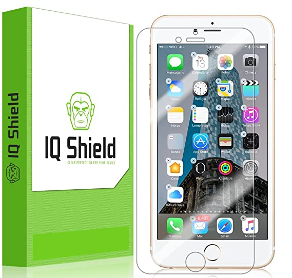 online store ead92 db41a IQ Shield LiQuidSkin Full Coverage Clear Screen Protector for iPhone 7 Plus  (Maximum Coverage) HD Anti-Bubble TPU Film