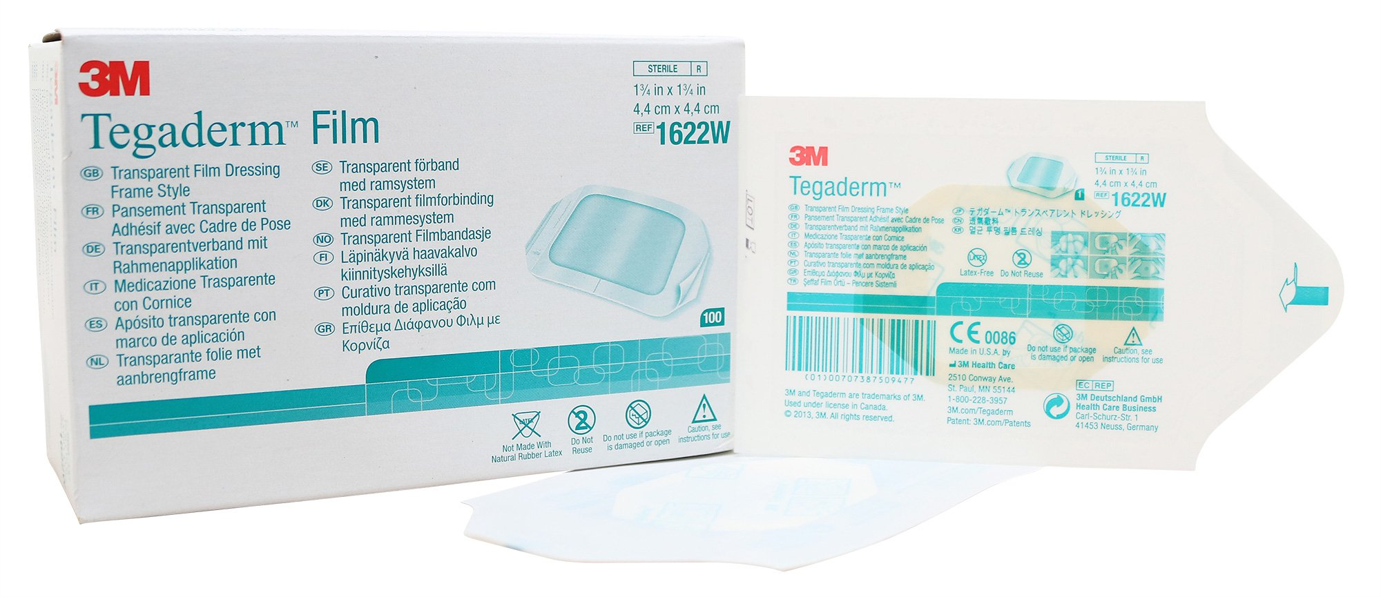 7779329 PT# 1622W Dressing Tegaderm Sacral 1-3/4x1-3/4'' Film Adh Adhr 100/Bx Made by 3M Medical Products