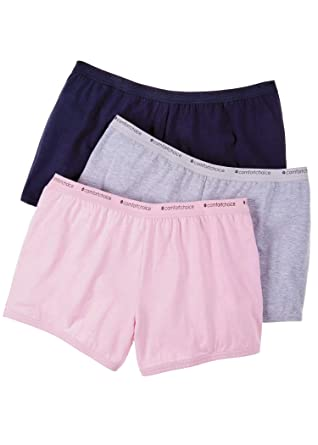 25928f679f31 Comfort Choice Women's Plus Size 3-Pack Boyshort at Amazon Women's ...
