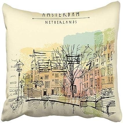 Home Dutch Square Center >> Amazon Com I Do Pillow Covers Print Amsterdam Holland Netherlands