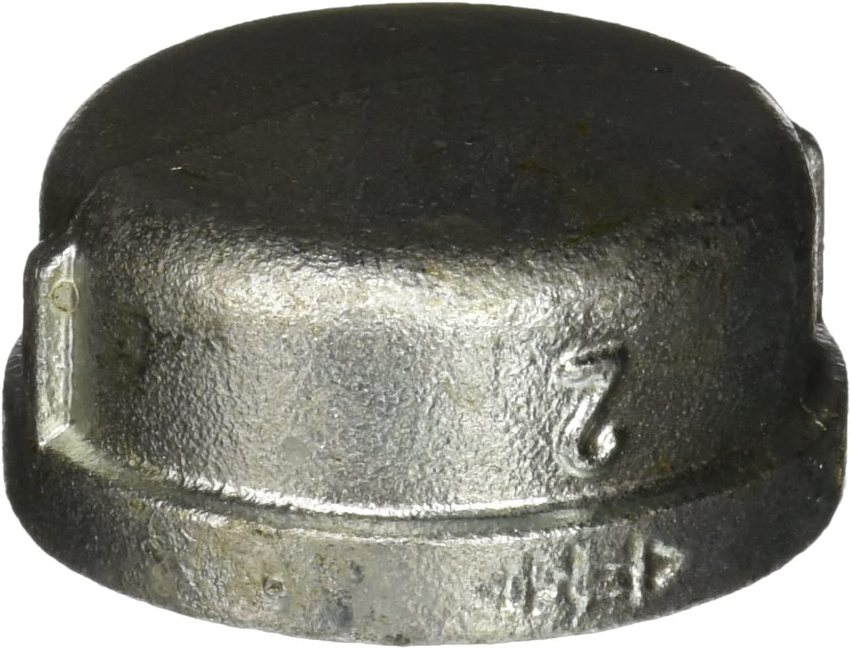 Everflow Supplies GMCP0300 3 Galvanized Malleable Iron Pipe Cap for 150 lb Applications with Female Thread
