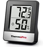 ThermoPro TP49-B Mini Hygrometer Thermometer with Large Digital Display Indoor Thermometer Humidity Gauge Monitor for…