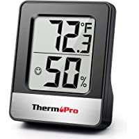 ThermoPro TP49 Digital Hygrometer Indoor Thermometer Humidity Meter Room Thermometer with Temperature and Humidity Monitor Mini Hygrometer Thermometer
