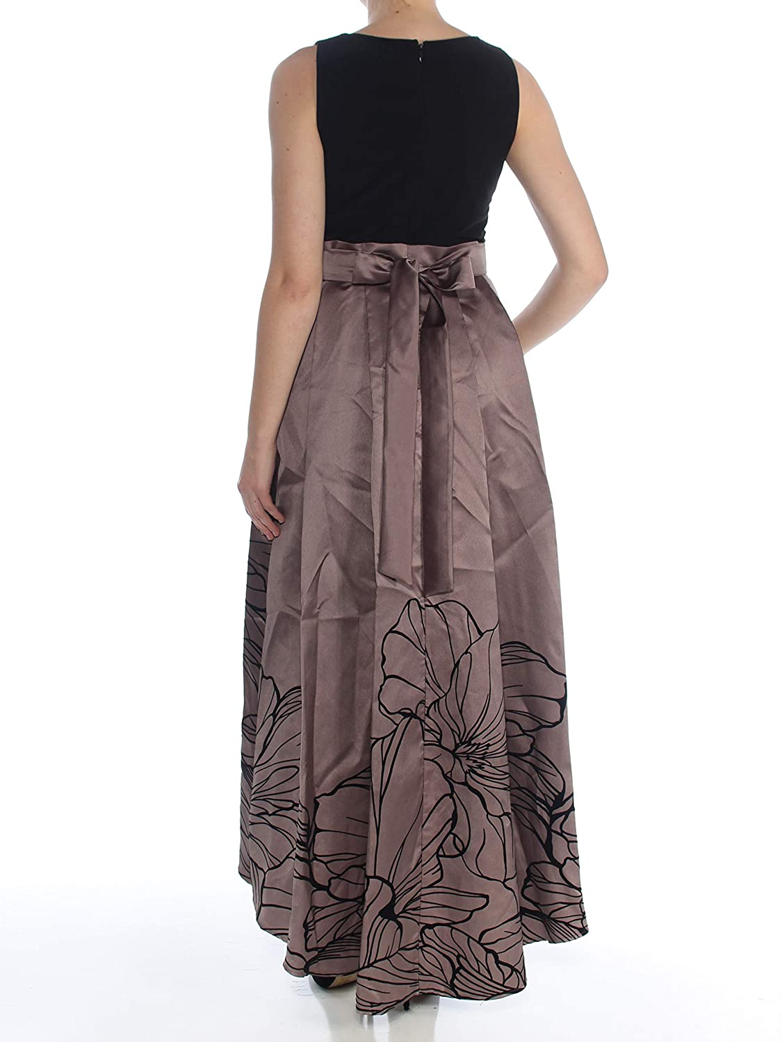 5de171138827 Ignite Evenings Women's Gown Floral Pleated Dress Black 8 at Amazon Women's  Clothing store: