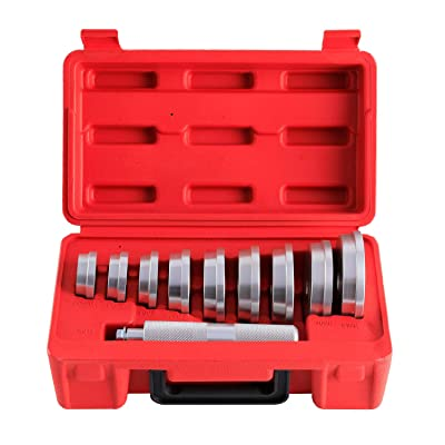 Orion Motor Tech 10pcs Bearing Race and Seal Bushing Driver Install Set 9 Discs Collar Axle Housing with Carrying Case Master/Universal Aluminum Kit for Automotive Wheel Bearings: Automotive