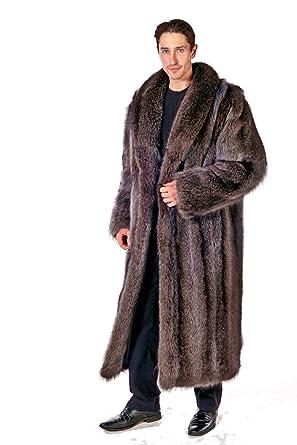Madison Avenue Mall Mens Long Real Raccoon Fur Coat Full Length at ...
