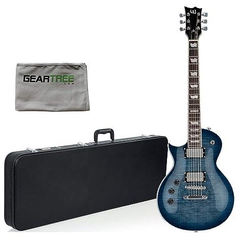 ESP LTD EC-256FM - Guitarra eléctrica (zurdo, azul cobalto) con paño ...