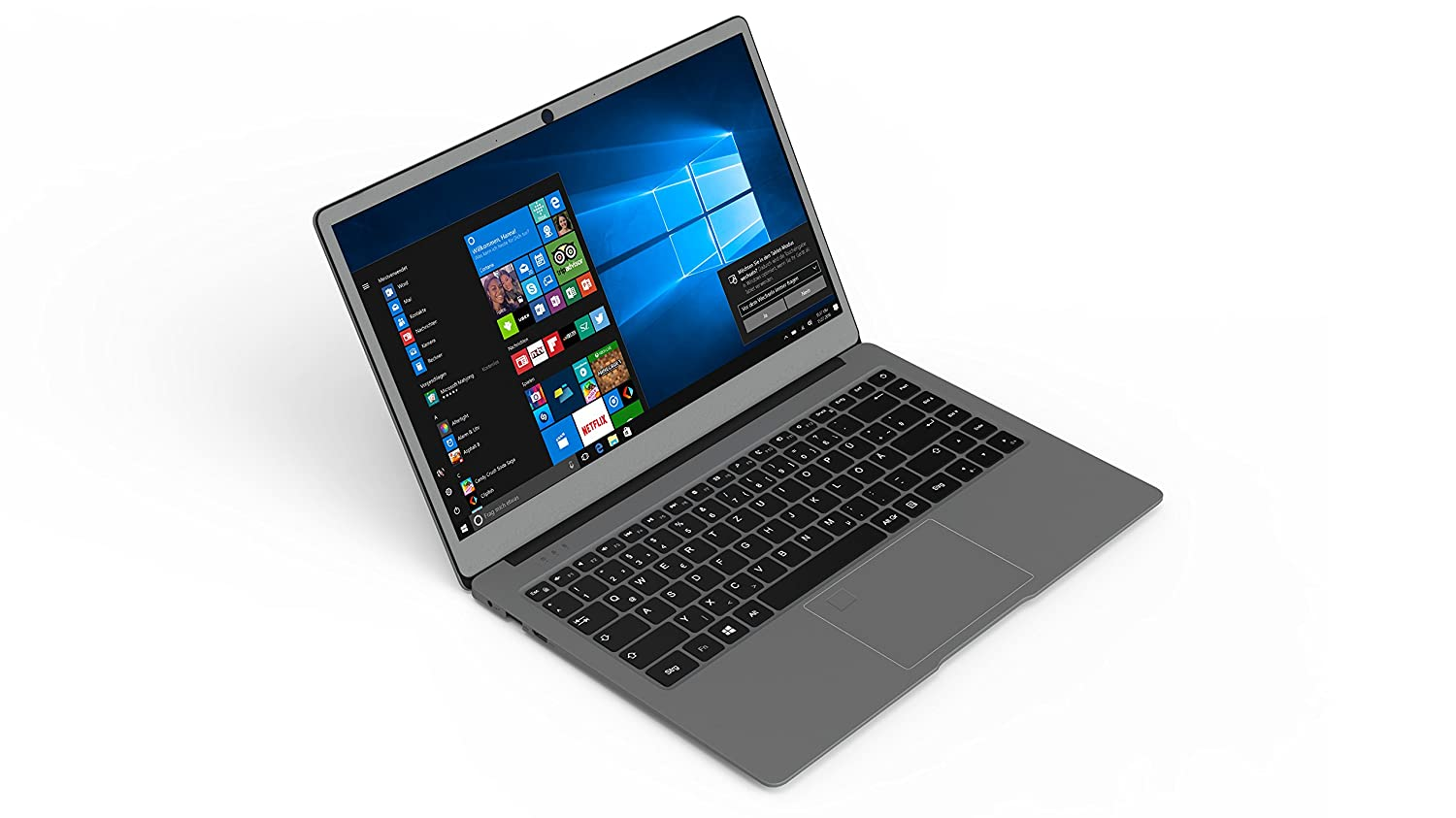 Odys 35.6cm (14 Zoll) Notebook Intel Celeron 4GB 64GB SSD Intel HD Graphics 515 Windows 10 Hom