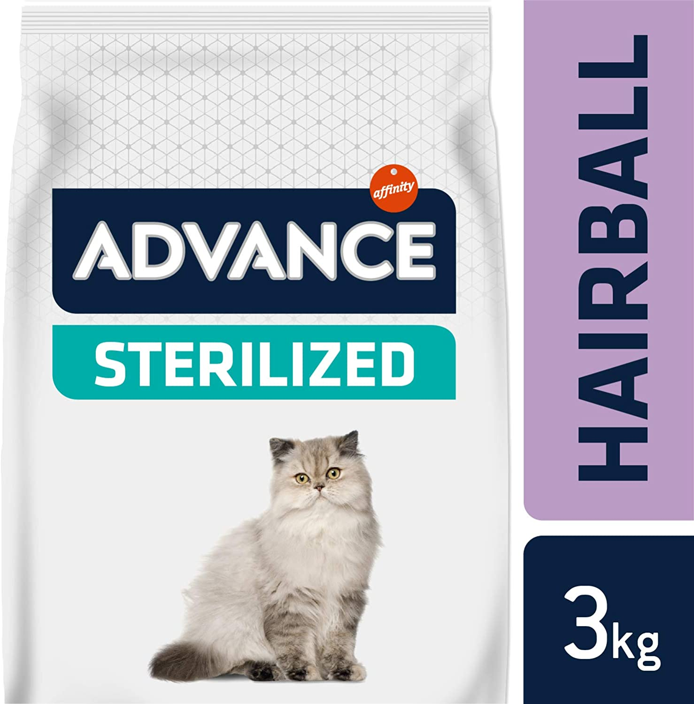 Advance Hairball Pienso para Gato Esterilizado - 3 kg: Amazon.es: Productos para mascotas