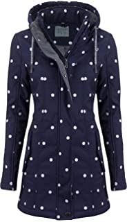 ODYSSEE Damen Softshell Mantel gepunktet Parka Jacke Kapuze Outdoor /Übergang