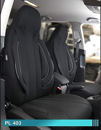 Ma/ß Sitzbez/üge kompatibel mit Skoda Citigo Fahrer /& Beifahrer ab BJ 2011 Farbnummer PL402