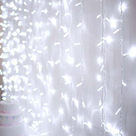 288 White LED 2m X 3m Curtain Light Type CC For Indoor Outdoor Use By Lights4fun