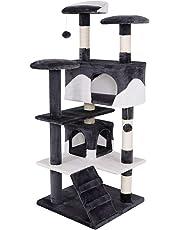 dibea KB003 Kratzbaum - Kletterbaum für Katzen (Höhe 130 cm)