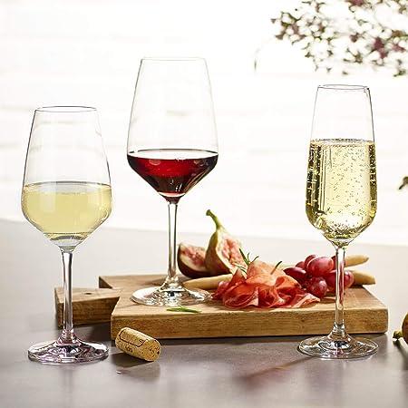 vivo by Villeroy & Boch Group - Voice Basic Juego de vasos de vino blanco, 4 piezas, 356 ml, vaso de cristal, apto para lavavajillas
