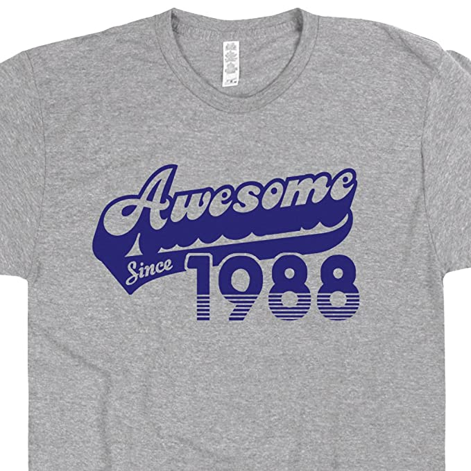 Amazon 31st Birthday Shirt Funny Awesome Since 1988 Tee Gift