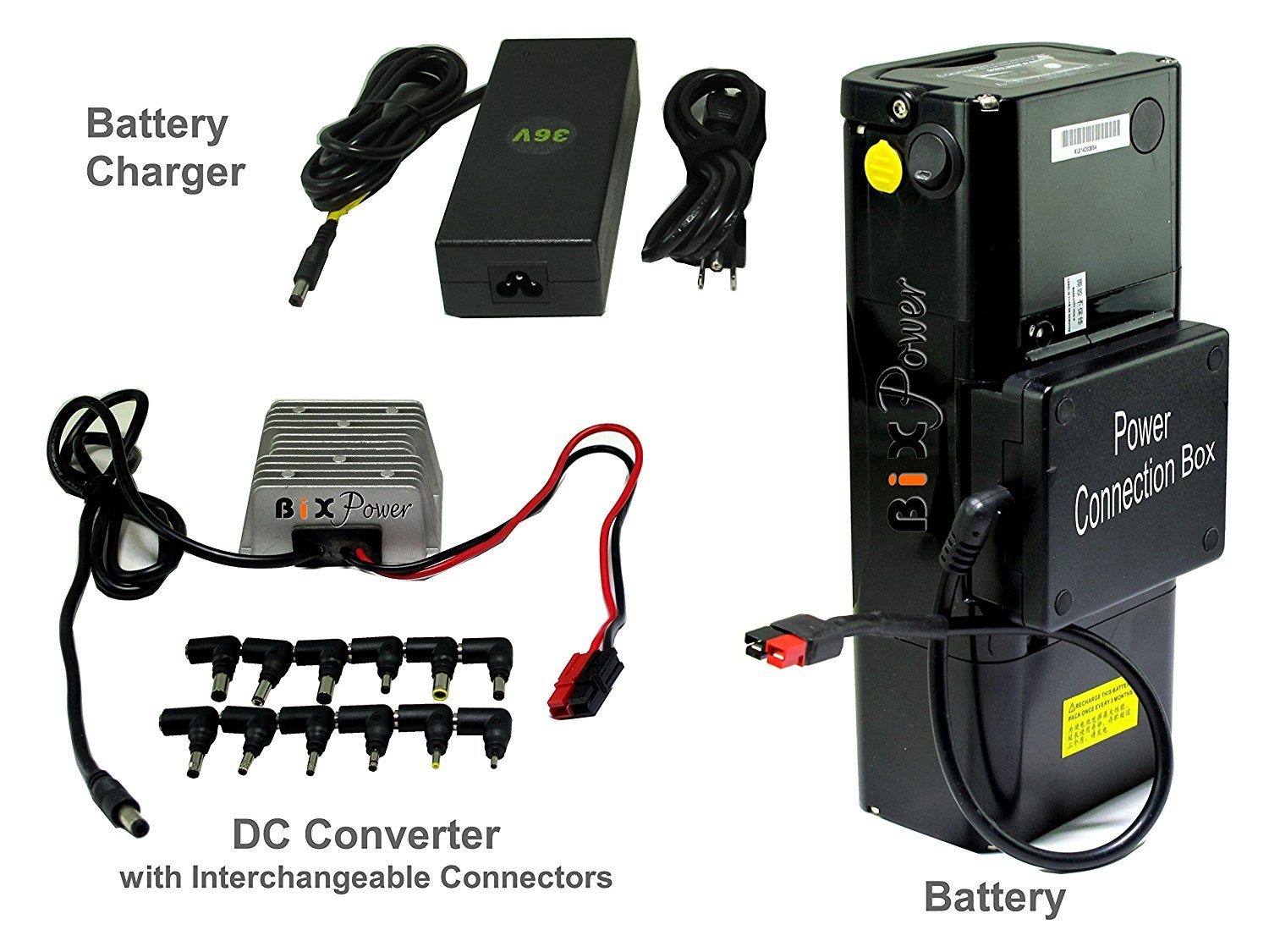BiXPower Super Capacity (504 Watt-Hour) Battery Pack with 19V Power Converter - DP500-19V