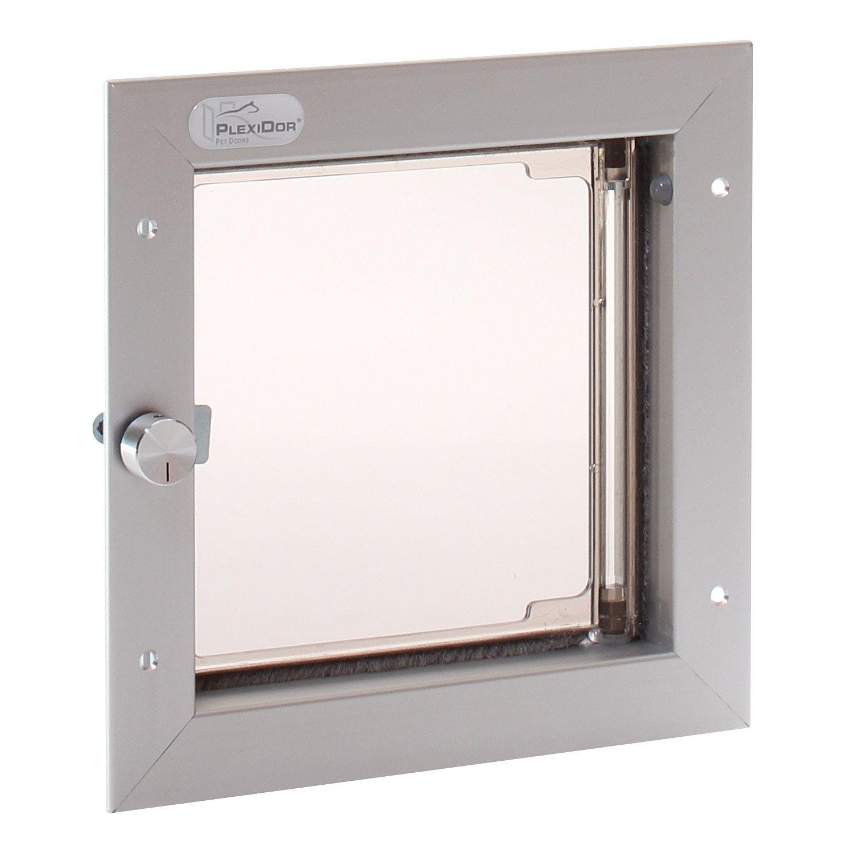 PlexiDor Performance Pet Doors Small Silver Door Mount