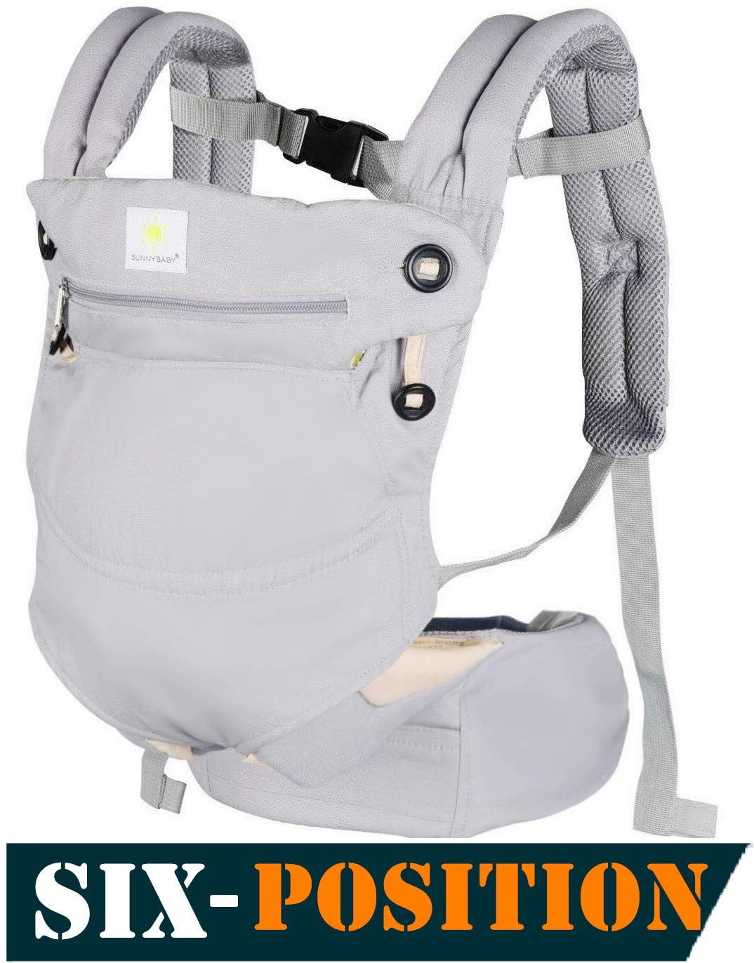 Baby Carriers Front and Back,All-Position 360° Ergonomic Baby & Child Carrier,All Season Baby Carrier Sling,Ergonomic Multi-Position Carrying for Infants Babies Toddlers and Newborn,Grey.
