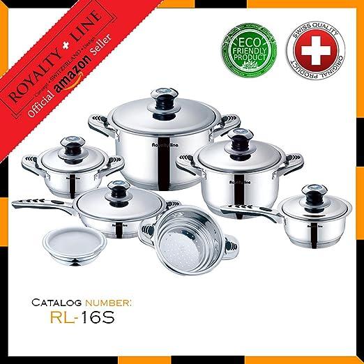 Set Batería de Cocina 16 Piezas Swiss Line para Hogar o