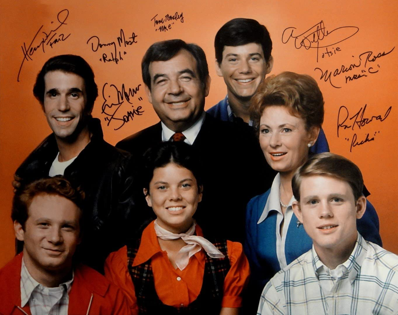 Happy Days Cast Signed 16x20 Photo Ron Howard Tom Bosley Erin Moran Winkler  JSA at Amazon's Entertainment Collectibles Store