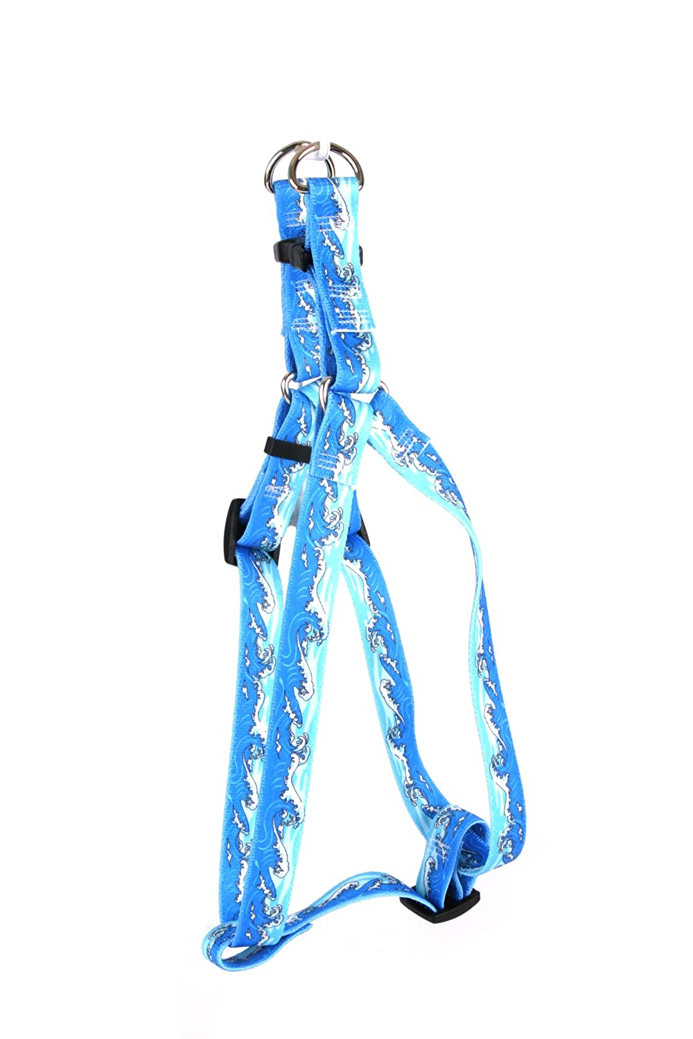 M Yellow Dog Design Step-In Harness, Medium, Mystic Waves bluee