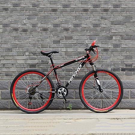 YXWJ Propósito General Mujer Hombre Bicicleta de montaña 24/26 Pulgadas de aleación de Aluminio de Alta de Carbono Marco de Acero de Asiento Ajustable ecológico Carretera de Bicicletas: Amazon.es: Hogar