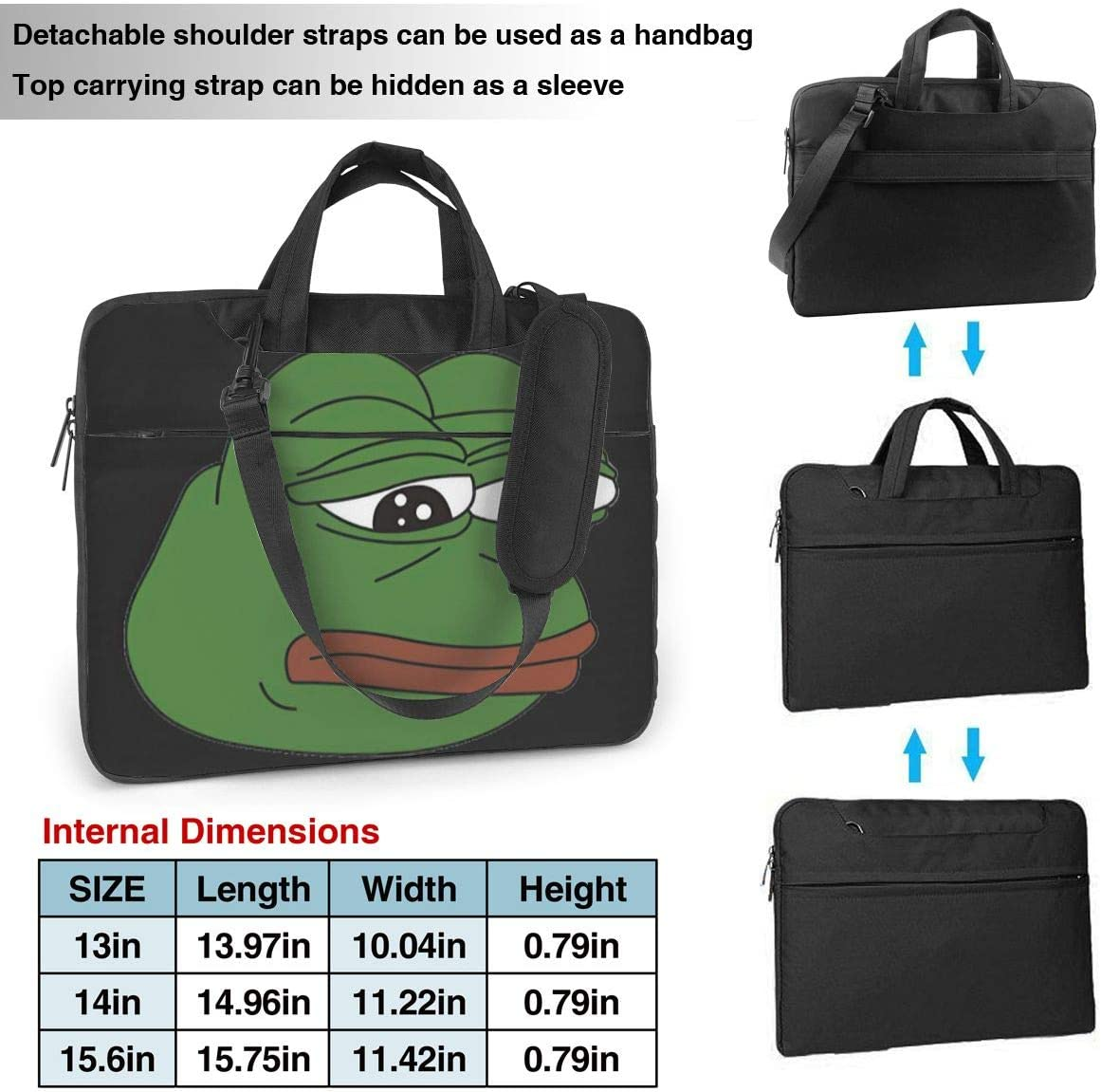 Pepe Laptop Shoulder Bag Compatible with 13-15.6 inch Computer for MacBook Pro//MacBook Air//Notebook Computer
