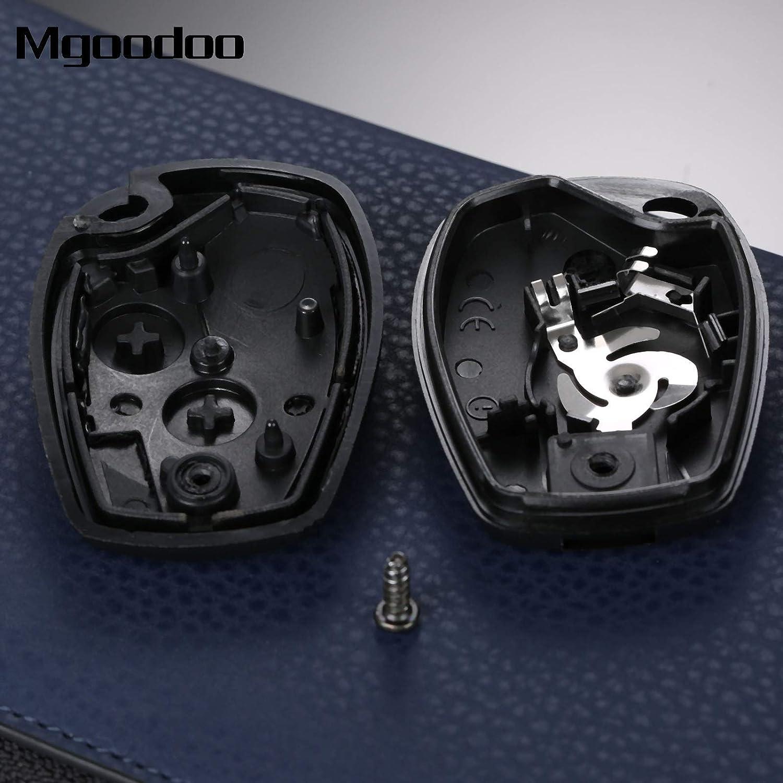Amazon.com: AjaxStore - 2 Buttons Car Remote Key Fob Shell ...